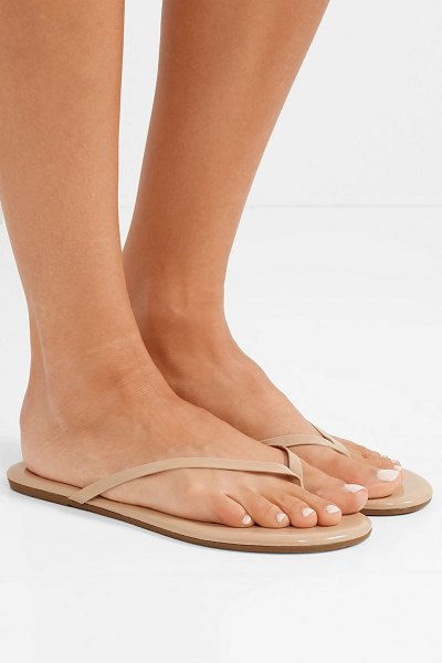 c2d418818 TKEES Lily Patent-Leather Flip Flops