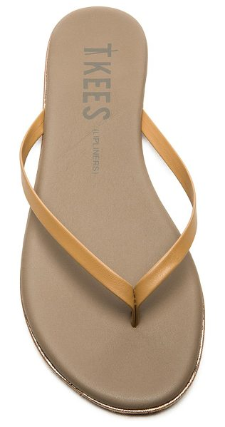 TKEES Sandal in tan - Leather upper with rubber sole. TKEE-WZ25. LIPLINERS....