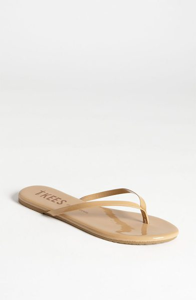 TKEES 'sunscreens' flip flop in spf 15 - Slim patent-leather straps top a cute flip-flop perfect...