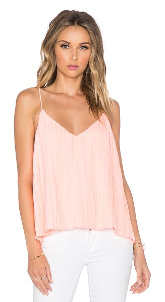 Toby Heart Ginger Lola pleat swing tank in coral - 100% poly. Hand wash cold. Accordion pleated detail...