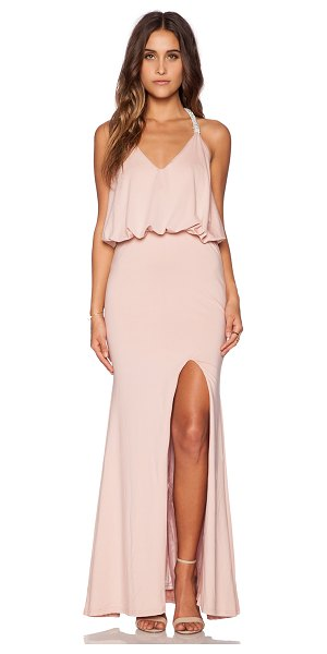 "Toby Heart Ginger X love indie jewel t-back dress in blush - 100% poly. Shoulder strap to hem measures approx 58"""" in..."