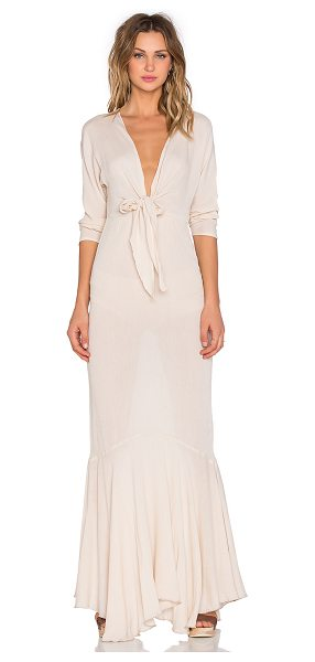 Toby Heart Ginger x Love Indie Mermaid Maxi Dress in beige - Cotton blend. Hand wash cold. Unlined. Waist tie....