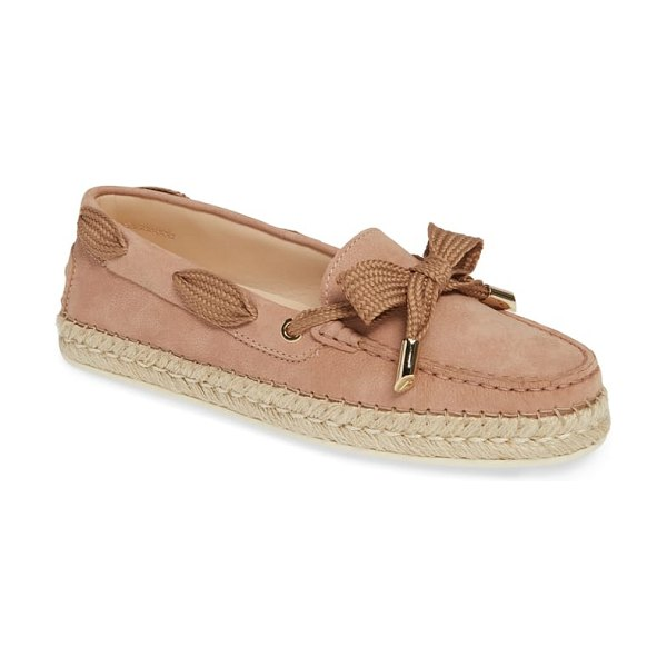 Tod's espadrille loafer in pink