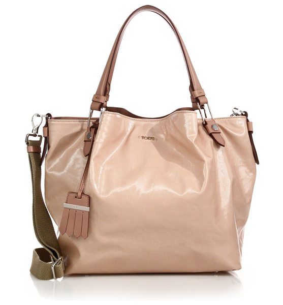 Tod's Flower small coated canvas tote in nude