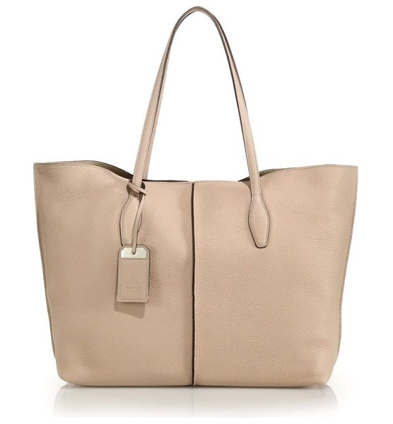 Tod's Joy large tote in beige - This timeless, versatile tote is crafted of Italian...