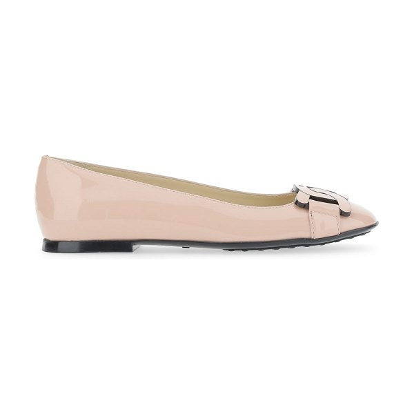 Tod's leather ballet flats in rosa kiss