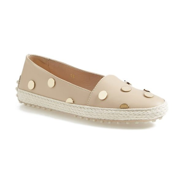 Tod's leather espadrille flat in tan - This season's must-have espadrille gets a posh update...