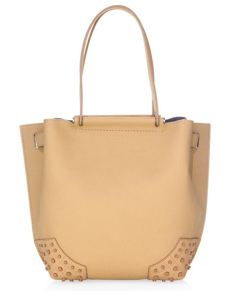 TOD'S small wave leather tote - Timeless tote crafted from deluxe leather. Double top...