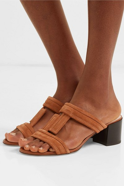 Tod's suede sandals in brown
