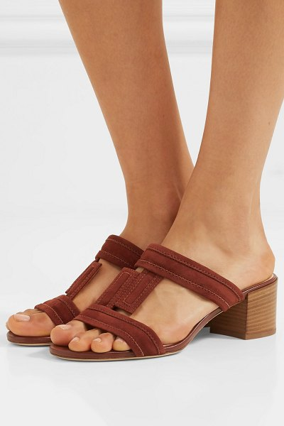 Tod's suede sandals in tan