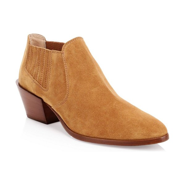 Tod's tex suede short ankle boots in light brown