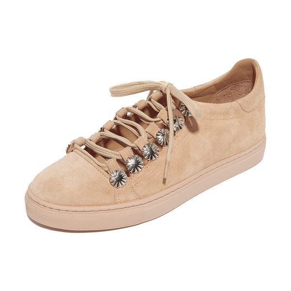 TOGA PULLA embellished sneakers - Starburst studs trim the cutout top on these suede Toga...