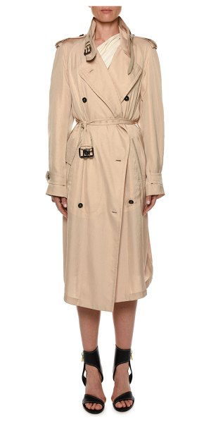 Tom Ford Belted Double-Breasted Trench Coat in beige