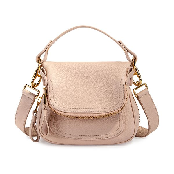 Tom Ford Jennifer Mini Grained Leather Shoulder Bag in blush