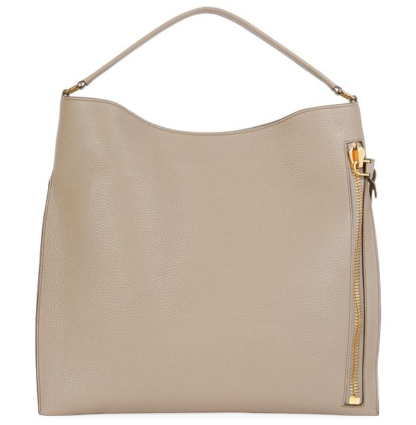 "Tom Ford Large Alix Tote Bag in taupe - TOM FORD ""Alix"" grained leather tote bag. Approx. 15""H x..."