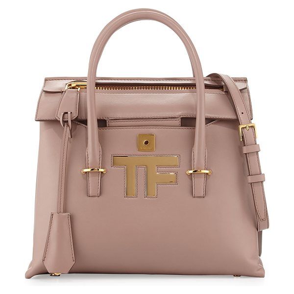 TOM FORD Mini icon tote bag - Tom Ford calfskin tote bag. Rolled top handles....