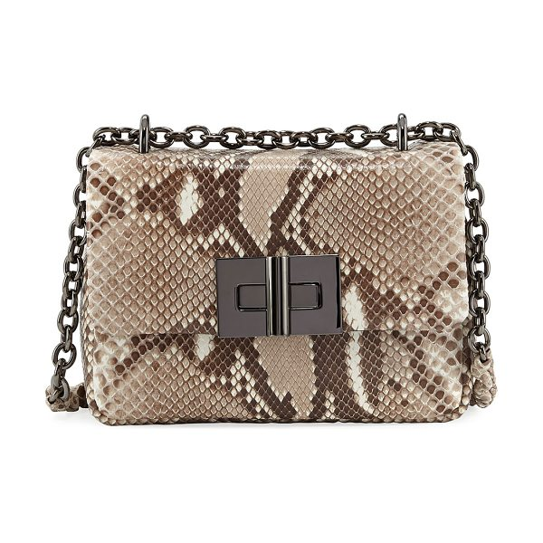 TOM FORD Natalia Python Chain Crossbody Bag - TOM FORD python crossbody bag with gunmetal hardware....