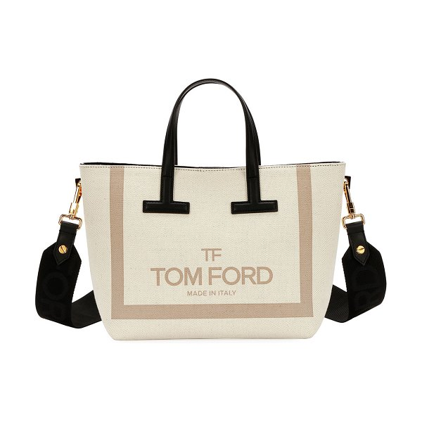 7d0a0972c8 Tom Ford Printed Canvas And Leather T Tote Bag | Nudevotion