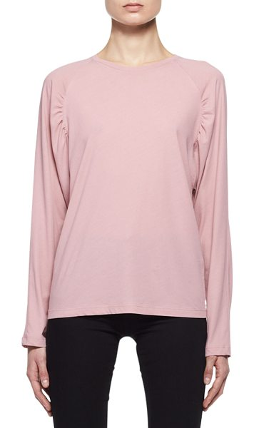 Tom Ford Ruched-Shoulder Raglan T-Shirt in medium pink - TOM FORD jersey T-shirt. Crew neckline. Long raglan...