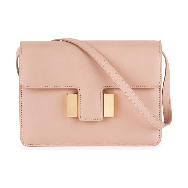 Tom Ford Sienna Small T-Buckle Crossbody Bag in blush - Tom Ford calf leather shoulder bag with signature golden...