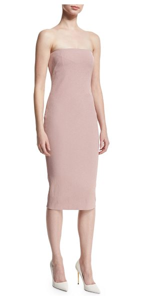 Tom Ford Strapless Tube Dress in nude light pink - Tom Ford stretch-woven dress. Straight-cut strapless...