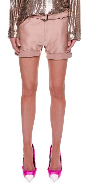 TOM FORD Stretch-Gabardine Shorts with Belt - TOM FORD shorts in stretch-gabardine. Five-pocket style....