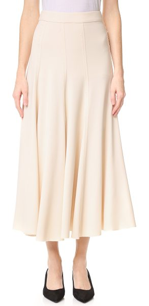 TOME a line skirt in pale pink - An A line Tome skirt in a ladylike midi length. Tonal...