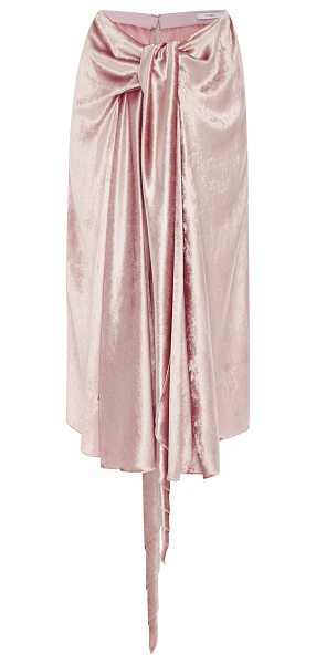 TOME Bow Front Skirt in pink - This *Tome* bow front skirt features a draped tie front...