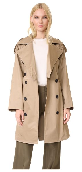 TOME cropped trench coat in khaki - A smart Tome trench coat in a classic double-breasted...