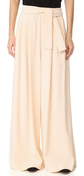 TOME long karate pants in pale pink - Pleated Tome wide-leg pants with an effortless drape....