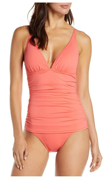 Tommy Bahama pearl one-piece swimsuit in coral