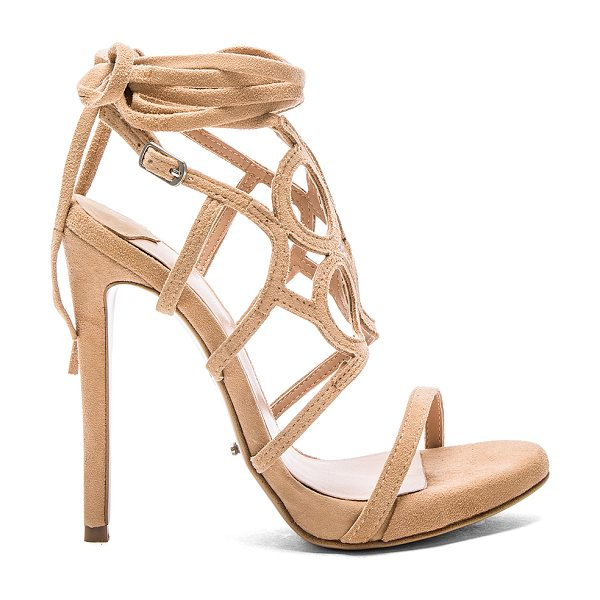Tony Bianco Alisa heel in beige - Suede upper with man made sole. Ankle strap with buckle...