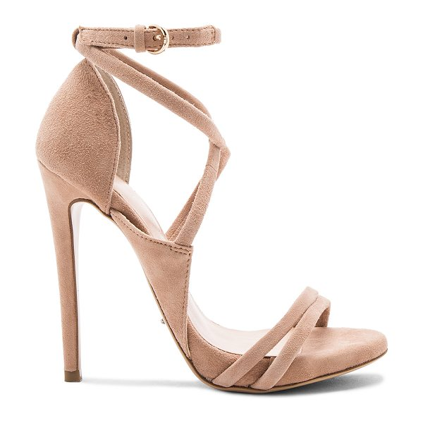 Tony Bianco Alita Heel in blush - Suede upper with man made sole. Wrap ankle with buckle...