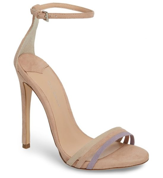 Tony Bianco aroma strappy sandal in blush suede - A trio of slim straps shape the toe of a barely there...
