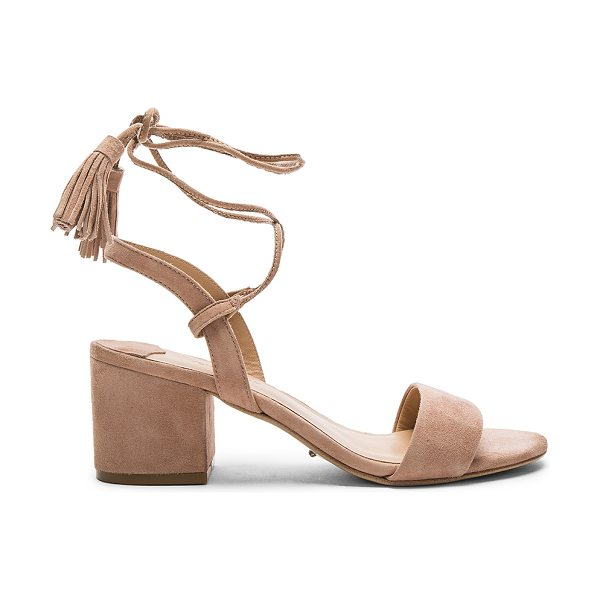 Tony Bianco Ash Heel in blush - Suede upper with man made sole. Wrap ankle with tie...