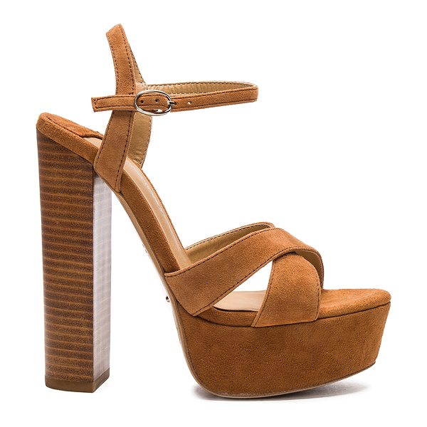 TONY BIANCO Ashby heel - Suede upper with man made sole. Ankle strap with buckle...