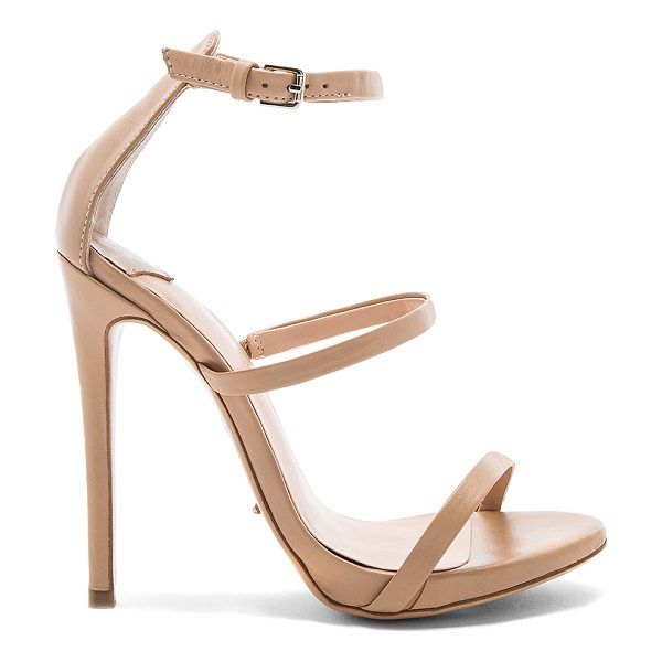 "Tony Bianco Atkins Heel in beige - ""Leather upper with man made sole. Ankle strap with..."