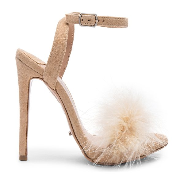 "Tony Bianco Avery Heel in beige - ""Suede upper with man made sole. Wrap ankle with buckle..."
