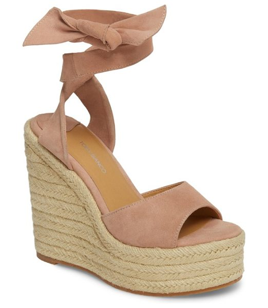 Tony Bianco barca espadrille wedge sandal in pink - Ropy espadrille trim wraps the towering wedge heel and...