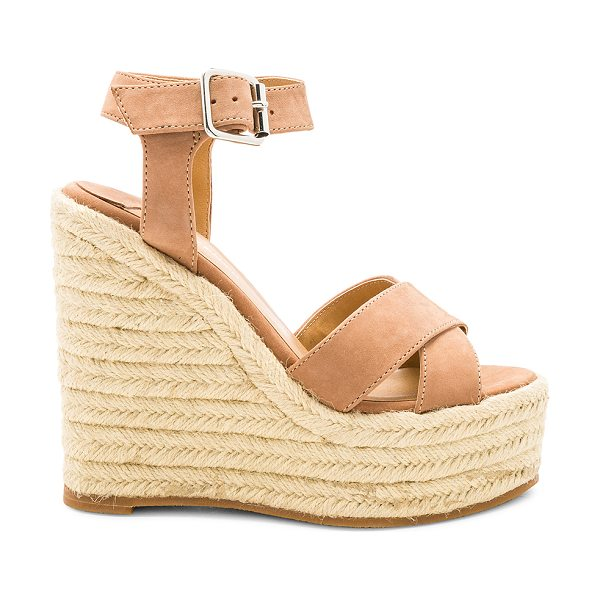 """Tony Bianco Boston Wedge in brown - """"Suede upper with man made sole. Ankle strap with buckle..."""