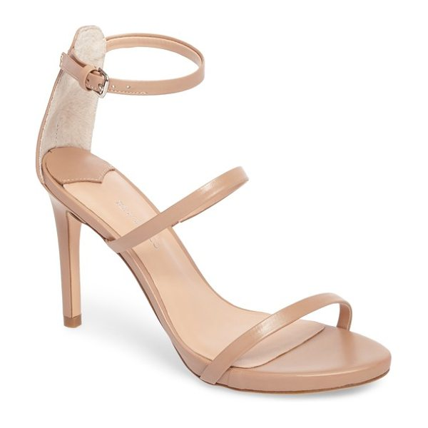 Tony Bianco carey three-strap sandal in skin capretto leather