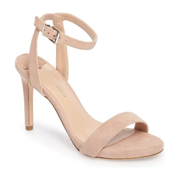 Tony Bianco char ankle cuff sandal in blush suede