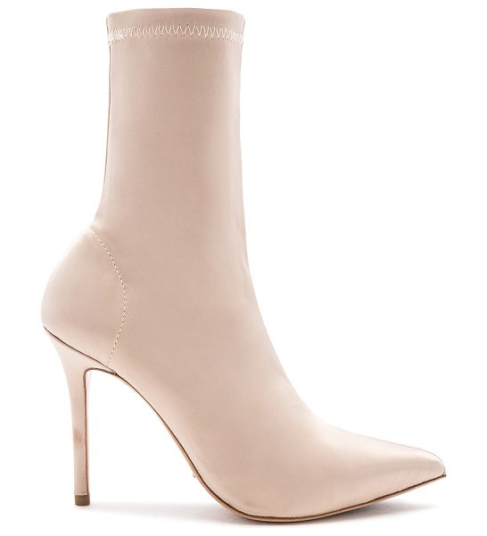 "Tony Bianco Davis Bootie in metallic neutral - ""Stretch textile upper with man made sole. Pull on..."