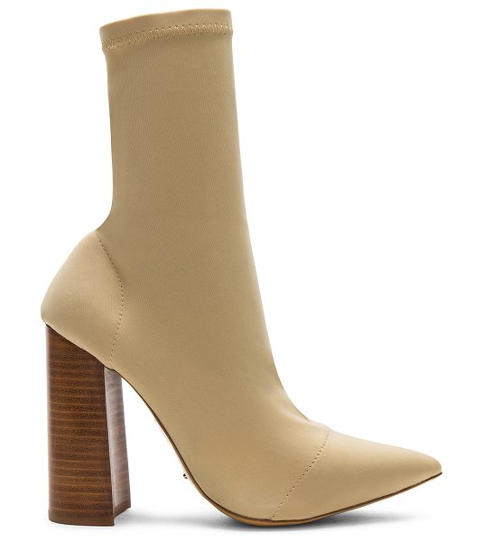 "Tony Bianco Diddy Bootie in cream - ""Stretch textile upper with man made sole. Pull on..."