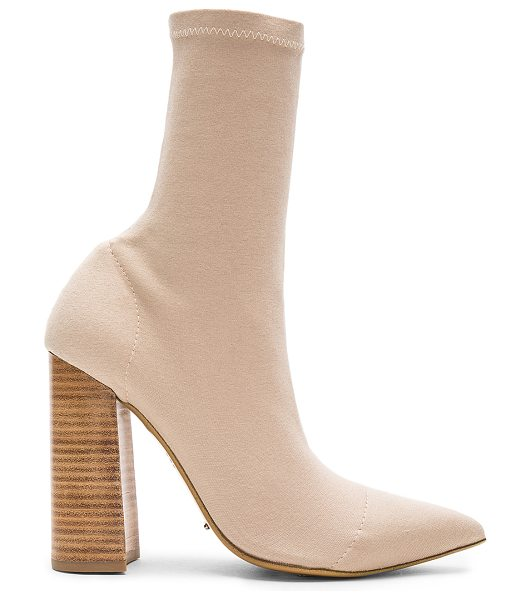 "Tony Bianco Diddy Bootie in beige - ""Textile upper with man made sole. Pull on styling. Heel..."