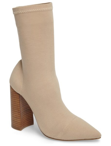 Tony Bianco diddy stretch bootie in sand onyx - Stretchy Lycra gives this pull-on boot a custom,...