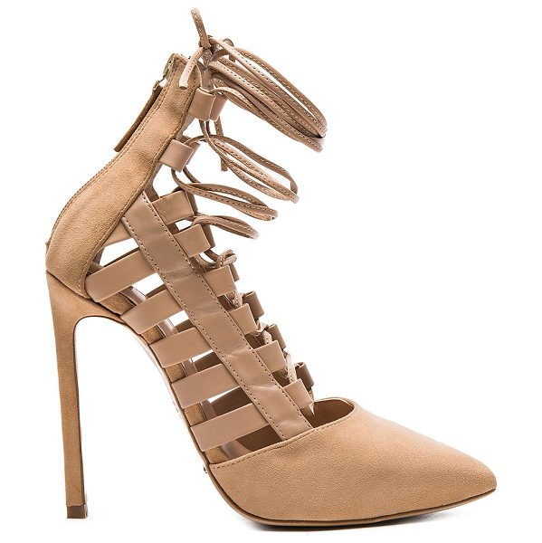 TONY BIANCO Fancie heel - Suede and leather upper with man made sole. Lace-up...