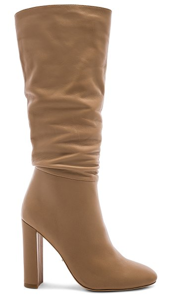 """Tony Bianco Jester Boot in tan - """"Leather upper with man made sole. Pull-on styling. Heel..."""