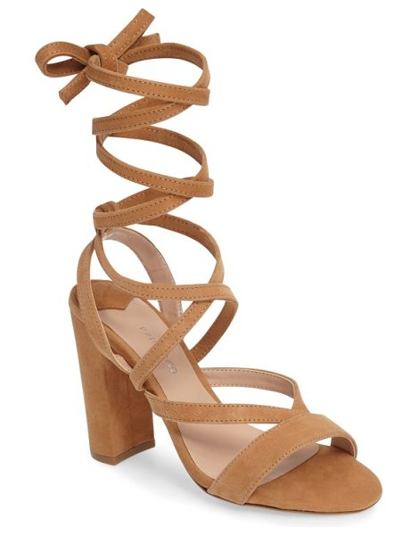 Tony Bianco kappa ankle wrap sandal in caramel suede - Slender suede straps crisscross up the foot and wrap...