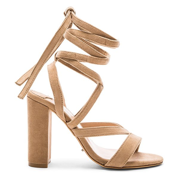 Tony Bianco Kappa Heel in beige - Suede upper with man made sole. Lace-up front with wrap...